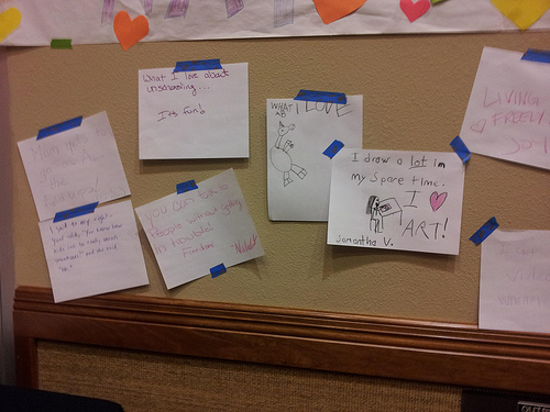 """""""What I love about unschooling"""" in the gallery."""